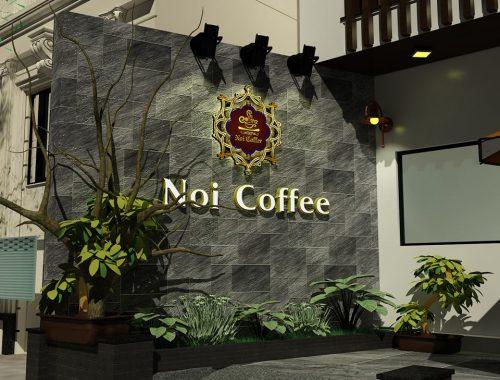 Biển quảng cáo quán Coffee chữ Inox