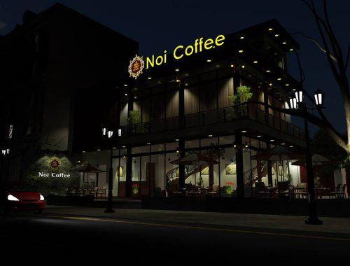 Biển quảng cáo quán Coffee led sáng