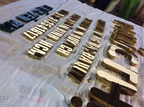 Chữ nổi Inox tại xưởng