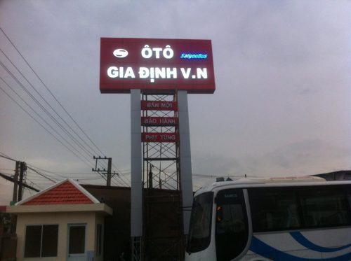Mẫu biển quảng cáo gara oto