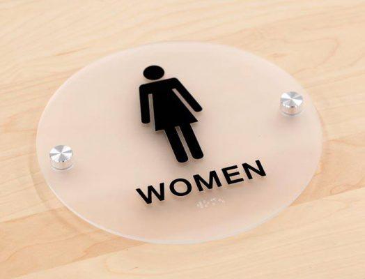 Biển chỉ dẫn wc, restroom
