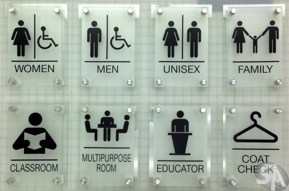 Mẫu biển hiệu nhà vệ sinh , biển wc đẹp 2019