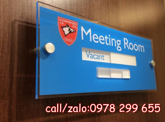 Biển trượt ngang phòng họp Meeting Room