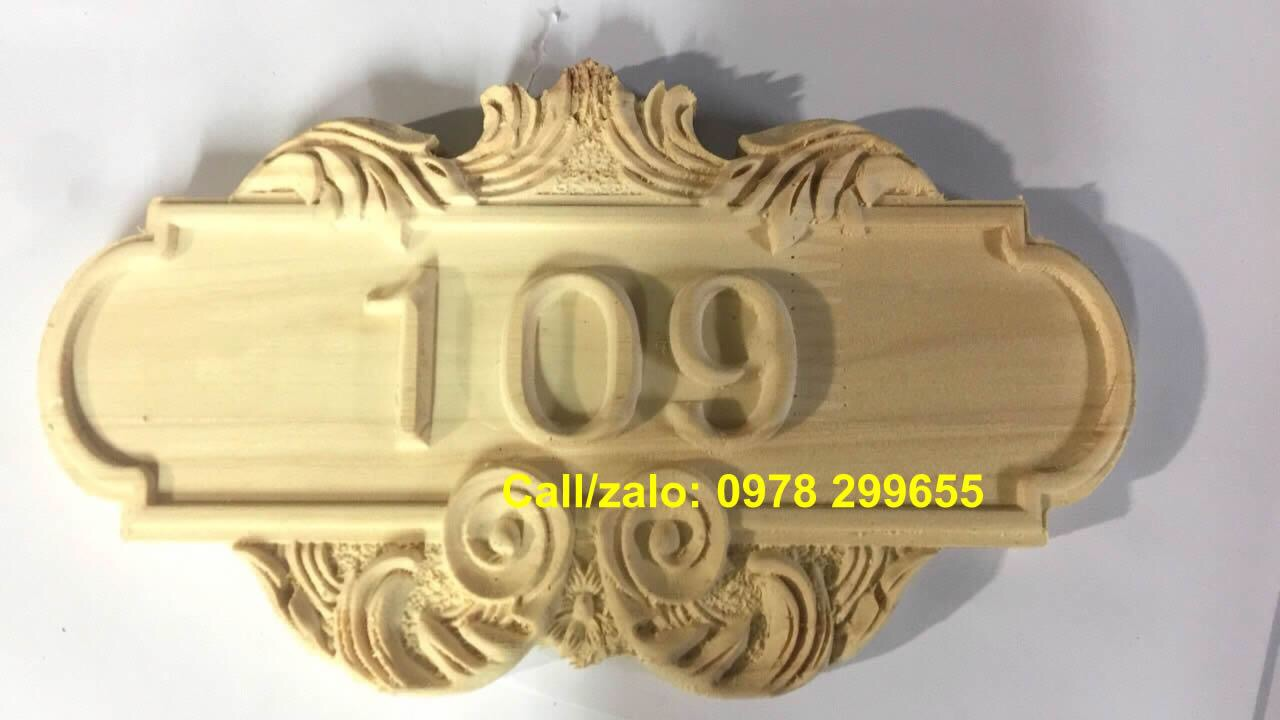 Biển khắc gỗ mộc chưa sơn