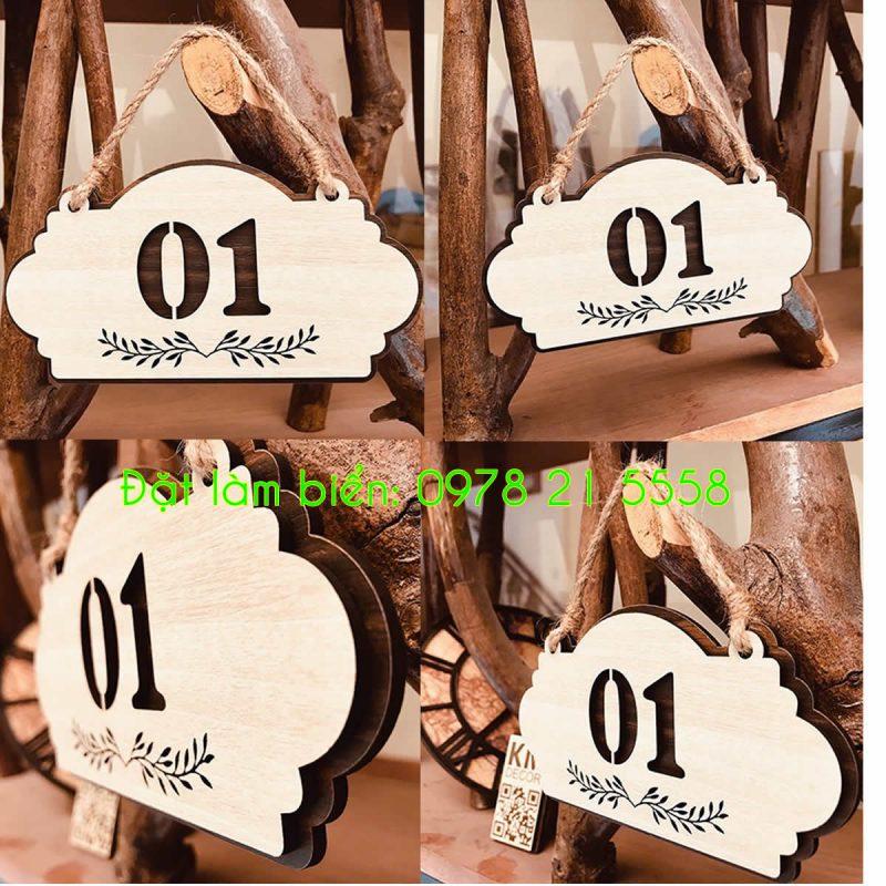 Biển số phòng gỗ công nghiệp