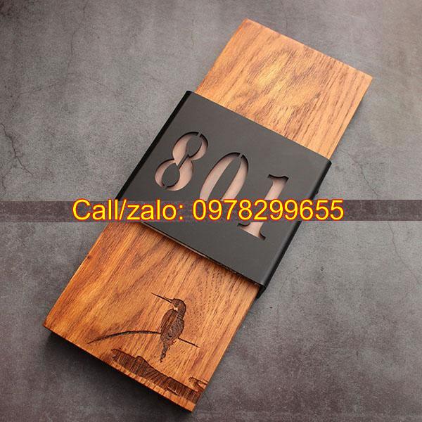Biển phòng bằng gỗ sồi
