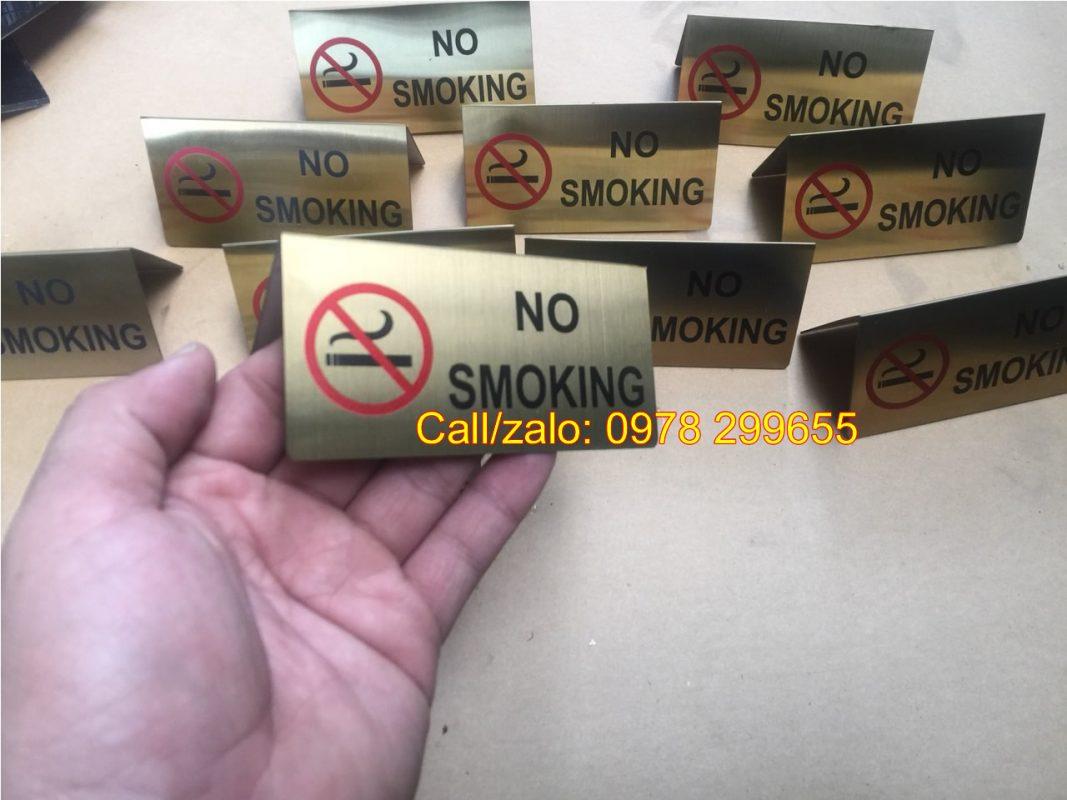 Biển No smoking đặt bàn giá rẻ
