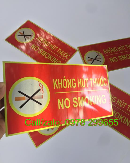 Biển không hút thuốc no smoking