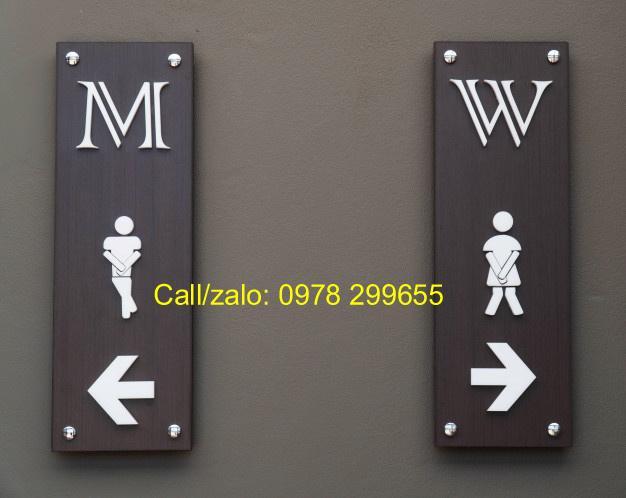 Biển chỉ dẫn wc, toilet