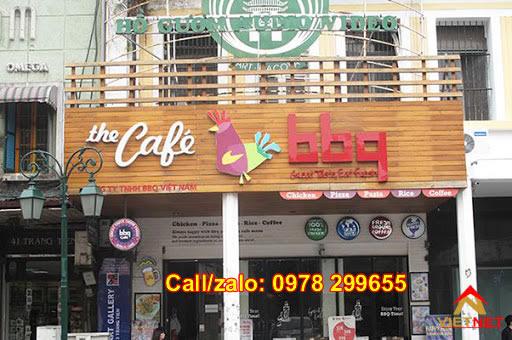 Biển hiệu quảng cáo cafe