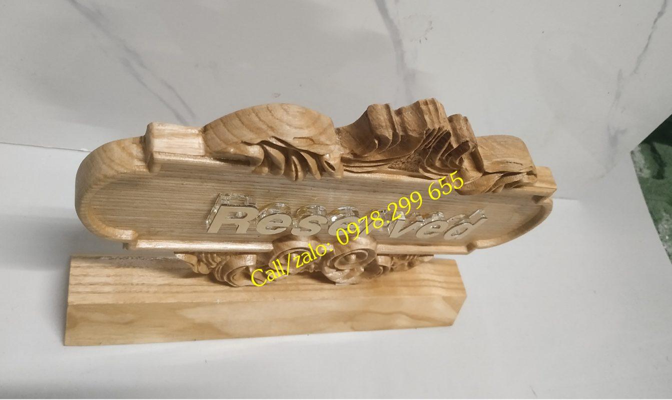 Biển gỗ số bàn, số phòng 2
