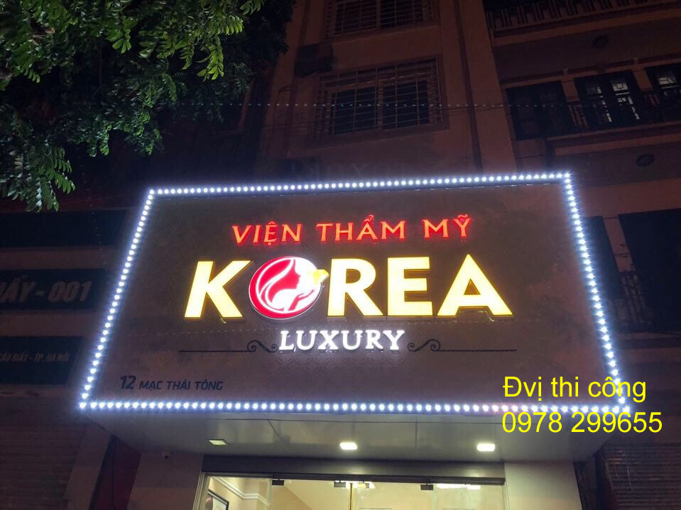 Biển quảng cáo spa viện thẩm Mỹ Korea đẹp