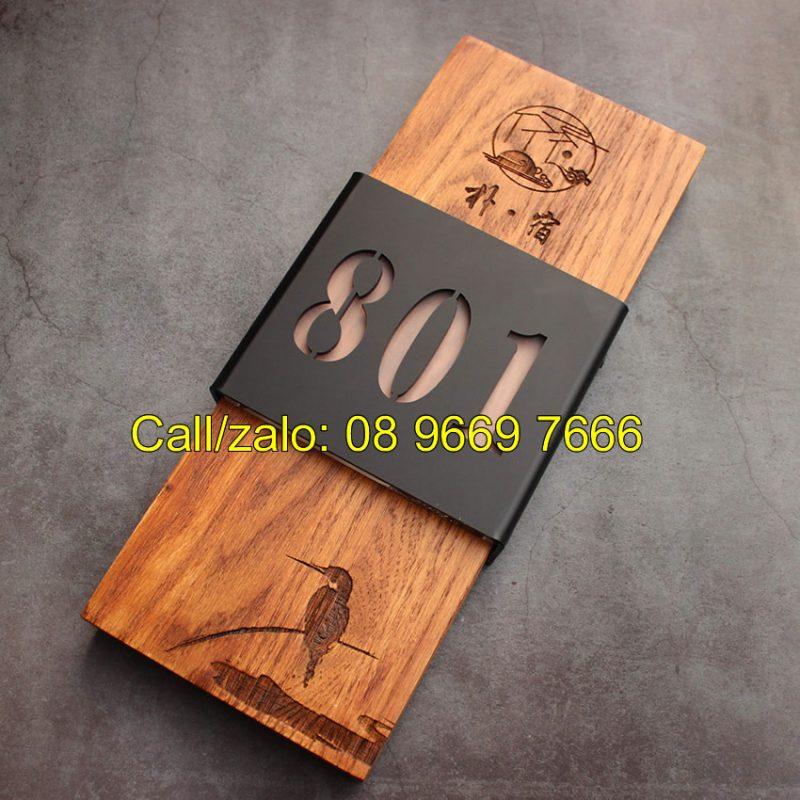 Biển số phòng gỗ cho Hotel