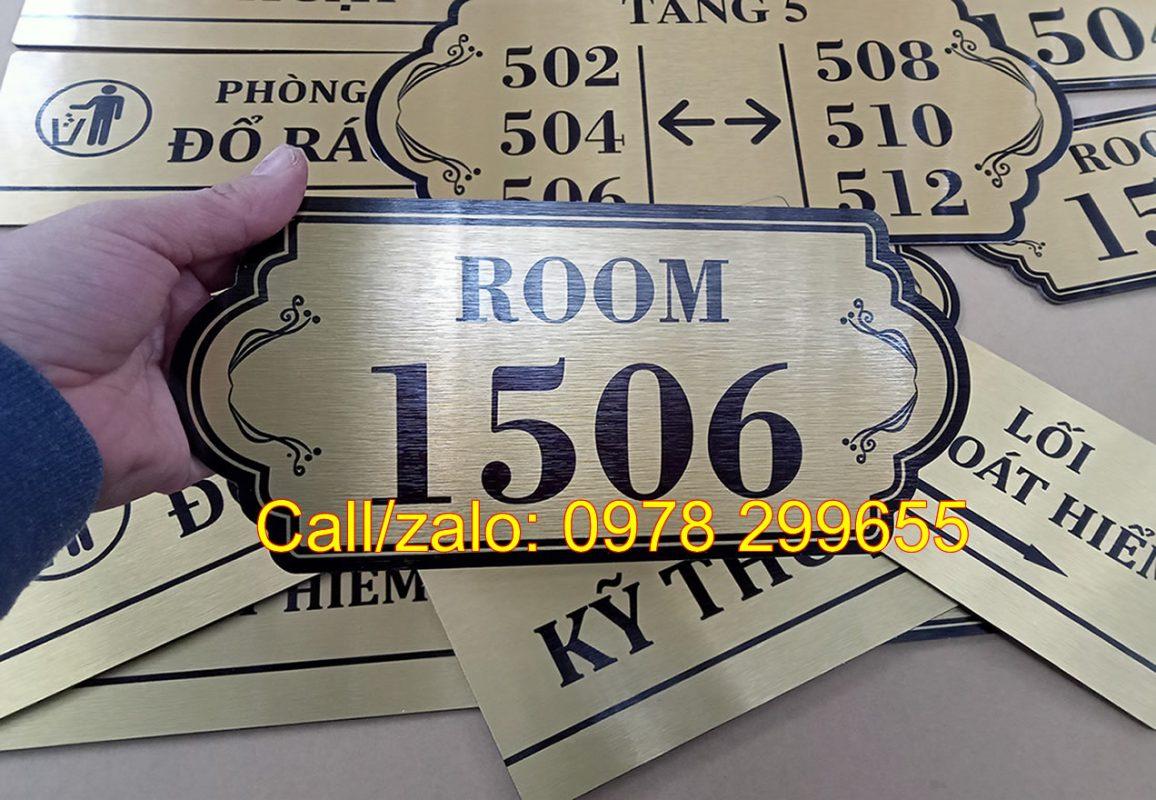 Biển số phòng tên phòng chung cư