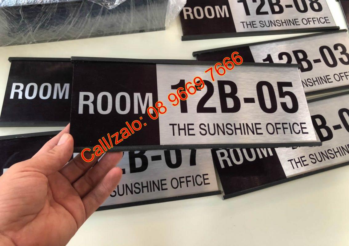 Biển số phòng chung cư the Sunshine