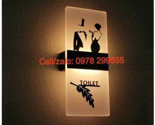 Biển nhà vệ sinh có đèn led