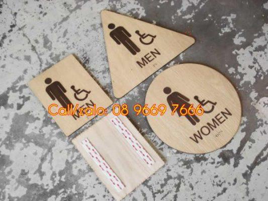 Biển chỉ dẫn wc nam nữ