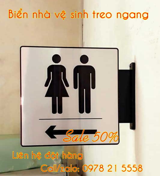 Biển nhà vệ sinh wc toilet