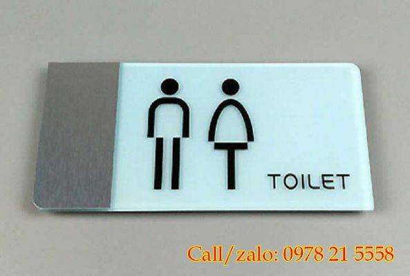 Biển chỉ dẫn wc toilet