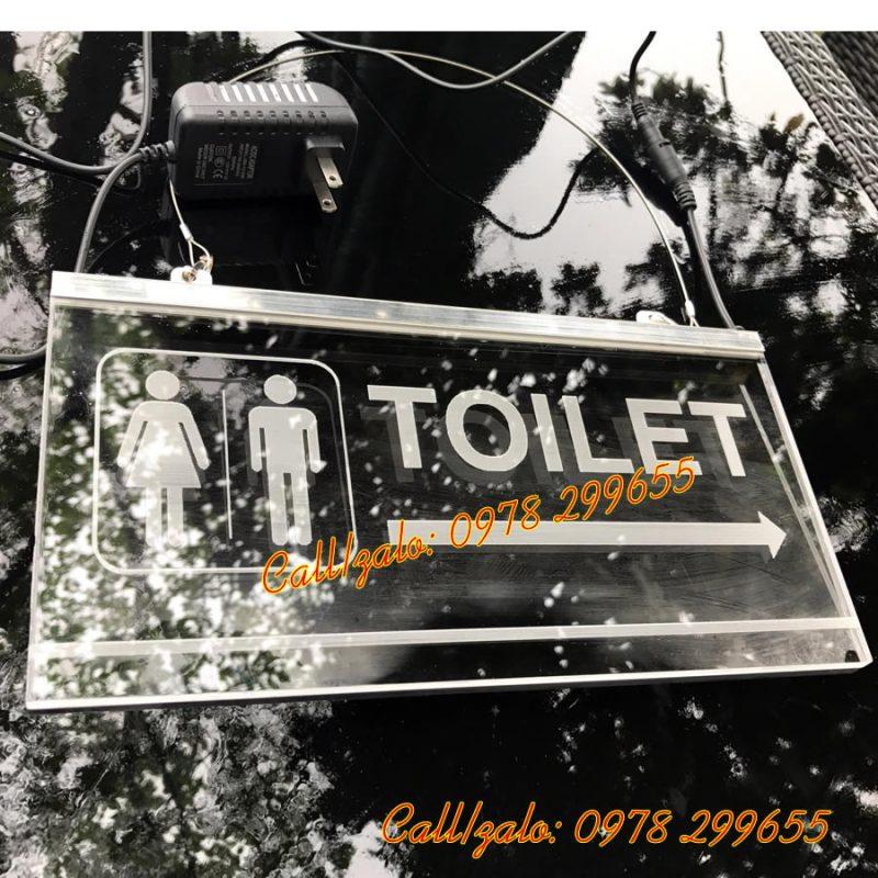 Làm biển chỉ dẫn wc toilet